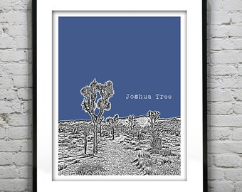 Joshua Tree Poster Art Print version 1
