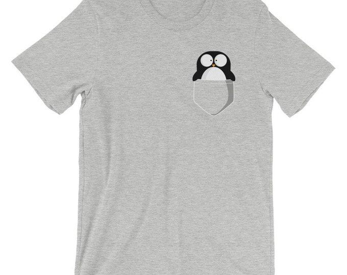 Penguin in Pocket Unisex T-Shirt | Men's Women's Unisex Shirt