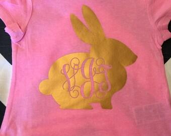 Easter bunny shirt: toddler & girls