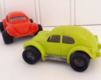 Tonka VW Beetle - orange & lime green 70s - Estate Sale Find -  collectible vehicle - Tonka collector - man cave - gift for him