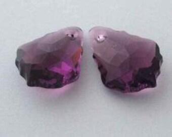 SWAROVSKI 6090 Baroque Crystal Pendant AMETHYST