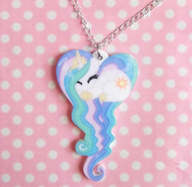 Cartoon pony sleeping heart necklace zoom mozeypictures Gallery