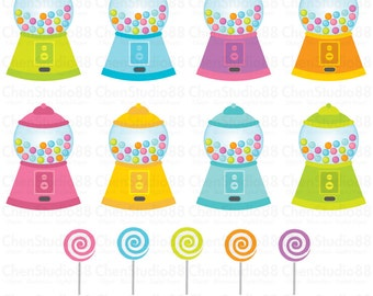 Gumball vector - Digital Clipart - Instant Download - EPS, Pdf and PNG files included