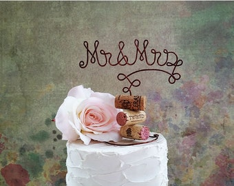MR & MRS Wine Wedding Cake Topper, Wine Wedding Cake Decoration, Vineyard Wedding Cake Topper, Wine Wedding Decoration, Rustic Wedding Decor