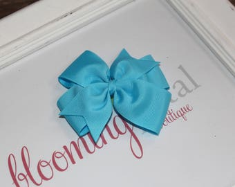 "Turquoise Large 4"" Pinwheel Bow"