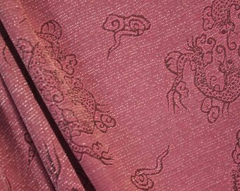 Dragon Theme Stretch Sparkle Fabric - 55 Inches Wide