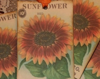 Sunflower Seed Packet Tags