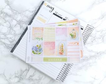 Pastel Succulents ESSENTIALS Planner Sticker Kit (3 Sheets) - For Erin Condren Vertical Life Planners