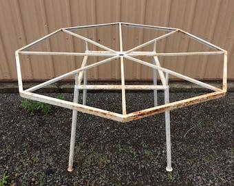 Russell Woodard Wrought Iron Hexagon Table Mid Century Modern