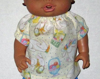Baby Alive,  Corolle Tidoo Doll Clothes, Baby All Gone,  Bunny Top and Shorts,  Fits 12 13  Inch Doll Clothes,  Corolle Calin