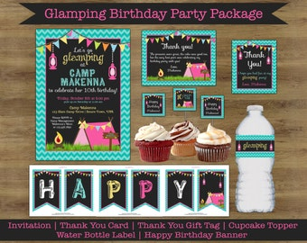 Glamping Invitation; Glamping Party Printables; Camping Birthday Invitation; Glamping Birthday; Camping Party Invitation