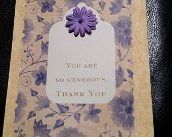 Thank YOU Greeting Card with White Envelope