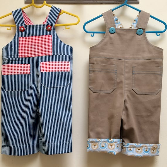 Cute Romper/Overalls sewing pattern OLLIE OVERALLS sizes 3+months to ...