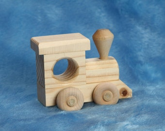 Train WOOD TOY ENGINE