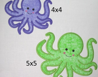 Machine Embroidery Design-Applique Octopus includes 2 sizes!