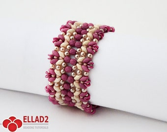 Tutorial Pastelleta Bracelet-Beading tutorial,Beading Pattern,Jewelry tutorial, Ellad2