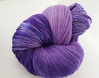 500g/1200m Purple rain on the Amazon warrior base; 100% British wool, spun in the UK. Not superwash. Cost per 100g less than a tenner!