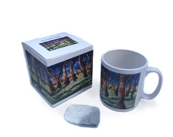 Art mug, Gift Mug, floral Snowdrops painting by Lydia Dawson Artwork