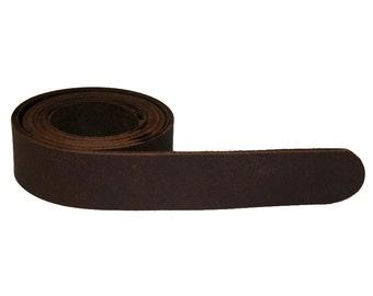 Dark Chocolate Brown Leather Belt For Men & Women (including Buckle) - Accessories