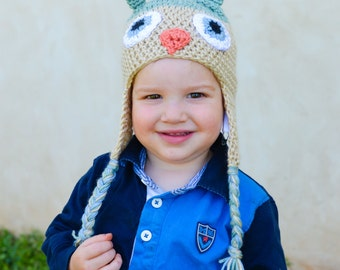 ALL SIZES - Multiple Colors Available - Owl Hats