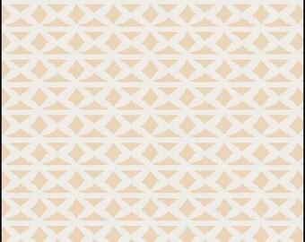 Wallpaper Flesh, Bound fabrics, April Rhodes, Art Gallery Fabrics, peach, white, geometric