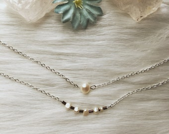 Double Pearl Protection Necklace- Double Necklace for Protection and calming