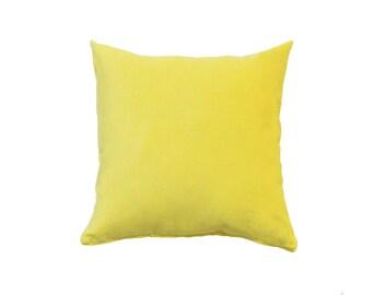 Microfiber Pillow Cover citrus yellow