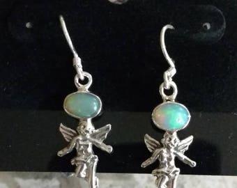Opal Cherub Earrings