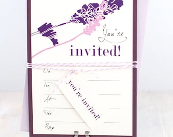 Fill in invitations blank bridal shower invitations blank luxury fill in invitations bridal shower invitations baker twine and hanging tag plum filmwisefo Choice Image