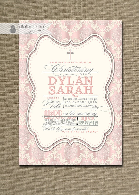 diy baptism invites do it yourself baptism invitation akba greenw