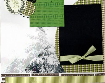 December 25th - Christmas , 2 page scrapbooking layout kit