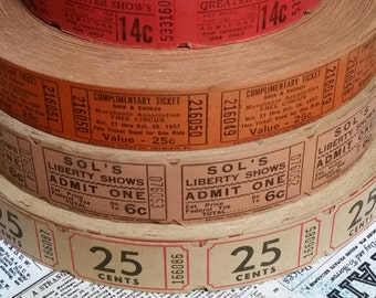 Marvelous Antique 1940's Tickets | Circus & Carnival Tickets