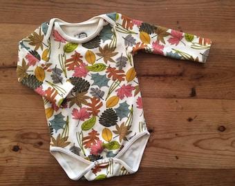 Organic Infant/Toddler Long Sleeve Bodysuit, Leaves