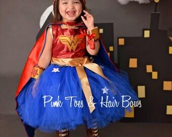 Wonder Woman costume- Wonder woman tutu costume- wonder woman costume dress- wonder woman dress-wonder woman tutu