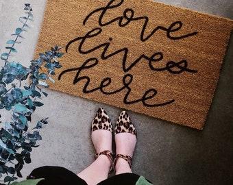 Love Lives Here Coir Doormat