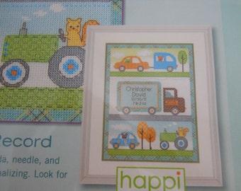 Birth Record - Counted Cross Stitch Kit - Happi Transport