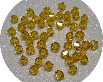 SWAROVSKI CRYSTAL SUNFLOWER 4MM BICONE BEAD