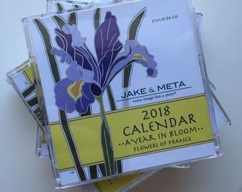 2018 Mini Desktop Calendar of a Year in Bloom