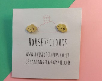 Cloud Stud Earrings - Ear Studs - Weather Jewellery - Studs - Cloud earrings - Weather Studs