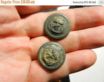 Spring Sale Vintage WW2 Navy Military Uniform Buttons
