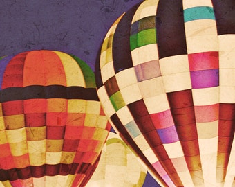 Hot Air Balloons - 8x10 photograph - fine art print - vintage photography - romantic - valentines day - wedding gift