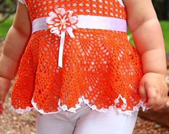 Crochet Top Orange