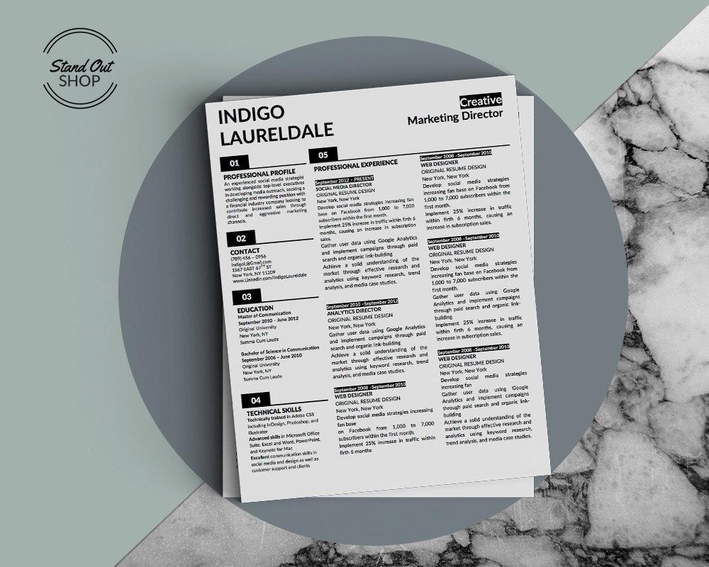 indigo lauderdale resume template 2
