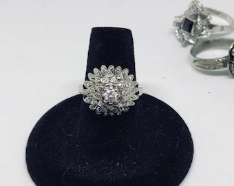 Beautiful WWII 1/2 ct of diamonds done ring sz 6.5