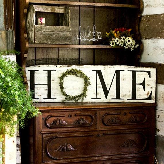 Farmhouse Decor Rustic Home Decor Home Wreath Sign Home