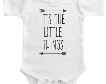 It's The Little Things Bodysuit - Cute Funny Baby Clothing For Baby Boys And Baby Girls, Adorable One-Piece Outfit