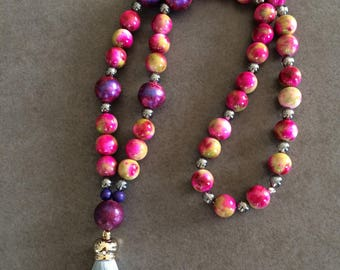 CreAtonia: necklace & bracelet Pink Lady