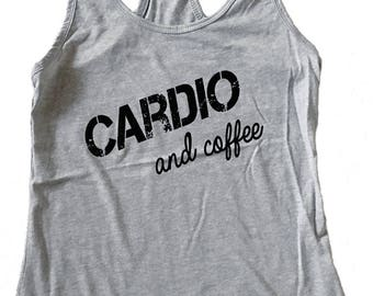 Cardio and Coffee Tank Top - Fitness Tank - (Available in sizes S, M, L, XL)