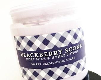 Blackberry Scone Lotion - Goat's Milk and Honey Hand and Body Lotion - Body Cream - Moisturizer