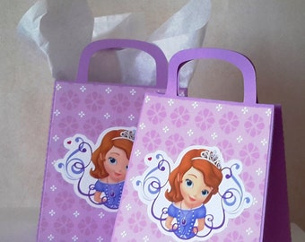 Sofia the First Favor Boxes 10 CT, Sofia the First Inspired Decoration. Party Favors Candy Box Loot Bags. Princess Sofia Birthday